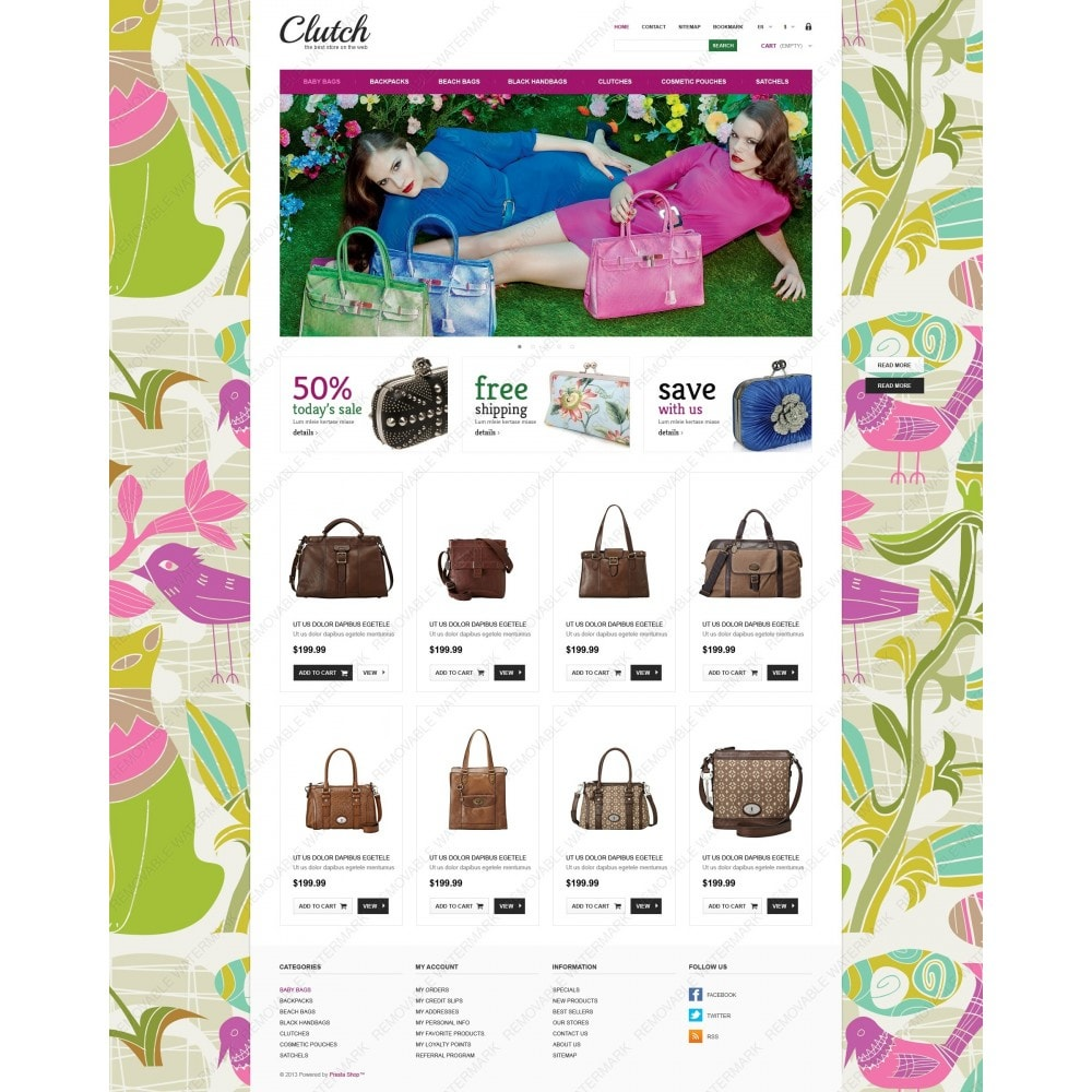 theme - Fashion & Shoes - Responsive Bags Store - 6