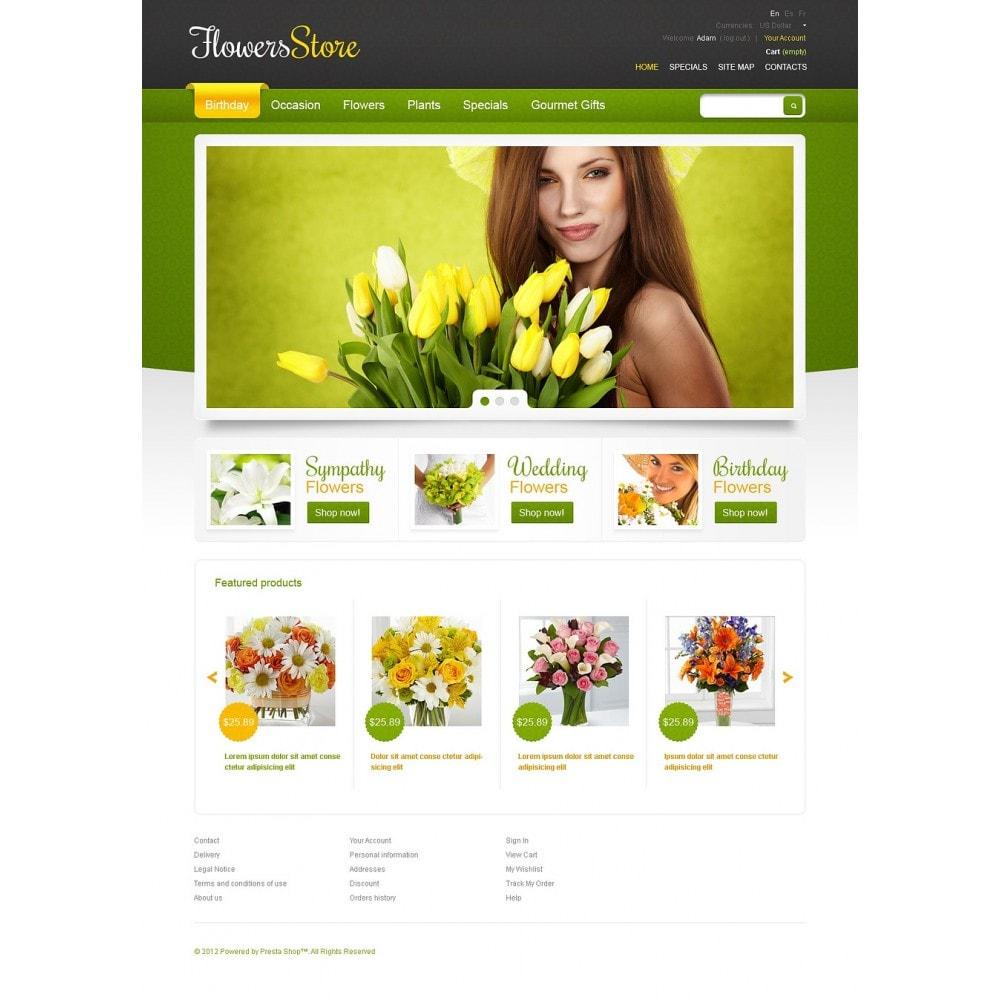 theme - Подарки, Цветы и праздничные товары - Responsive Flowers Store - 2