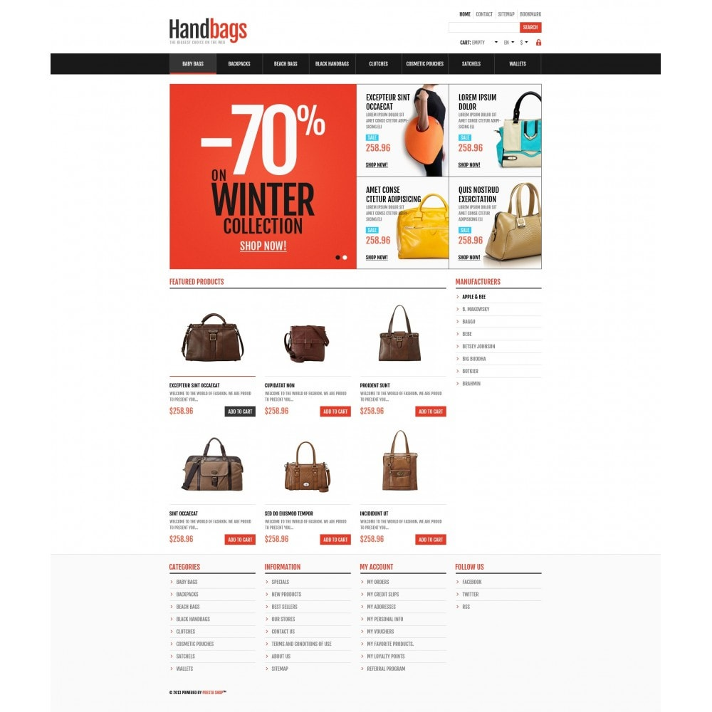 theme - Mode & Chaussures - Responsive Handbags Store - 5