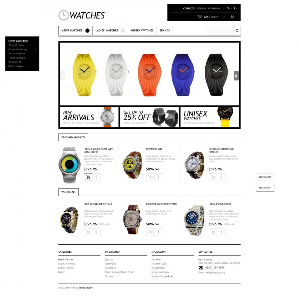 theme - Moda & Calçados - Responsive Watches Store - 5
