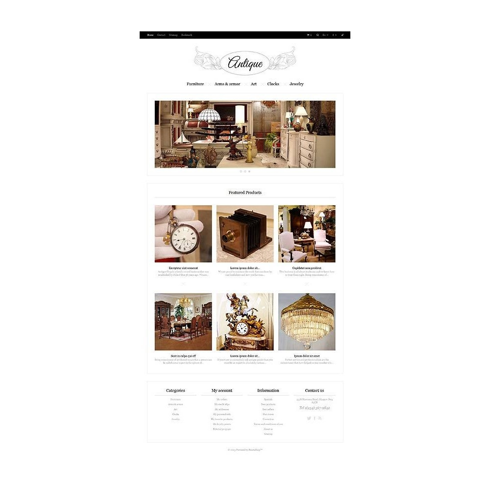 theme - Hogar y Jardín - Responsive Antiques Store - 11