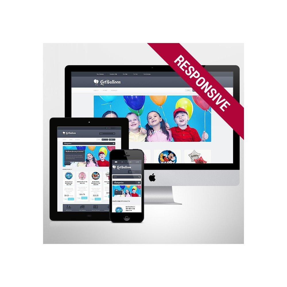 theme - Kinder & Spielzeug - Responsive Balloons Store - 1