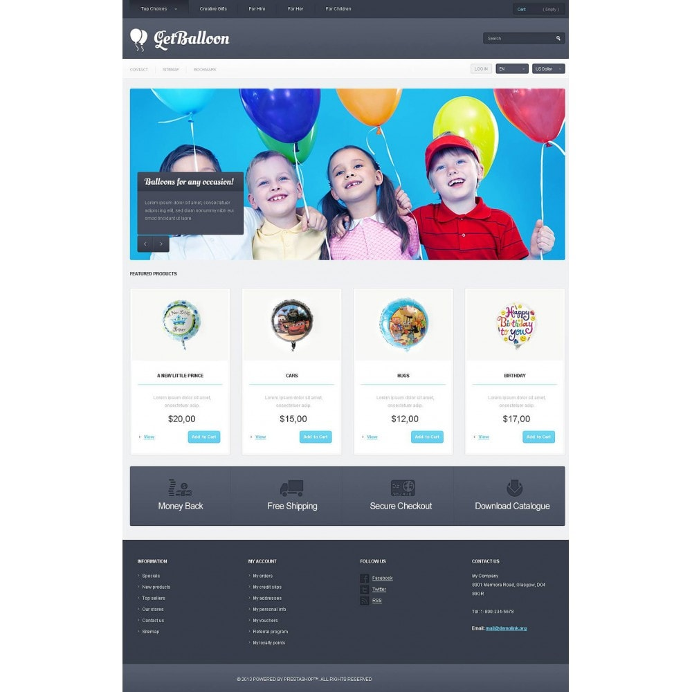 theme - Kinder & Spielzeug - Responsive Balloons Store - 2
