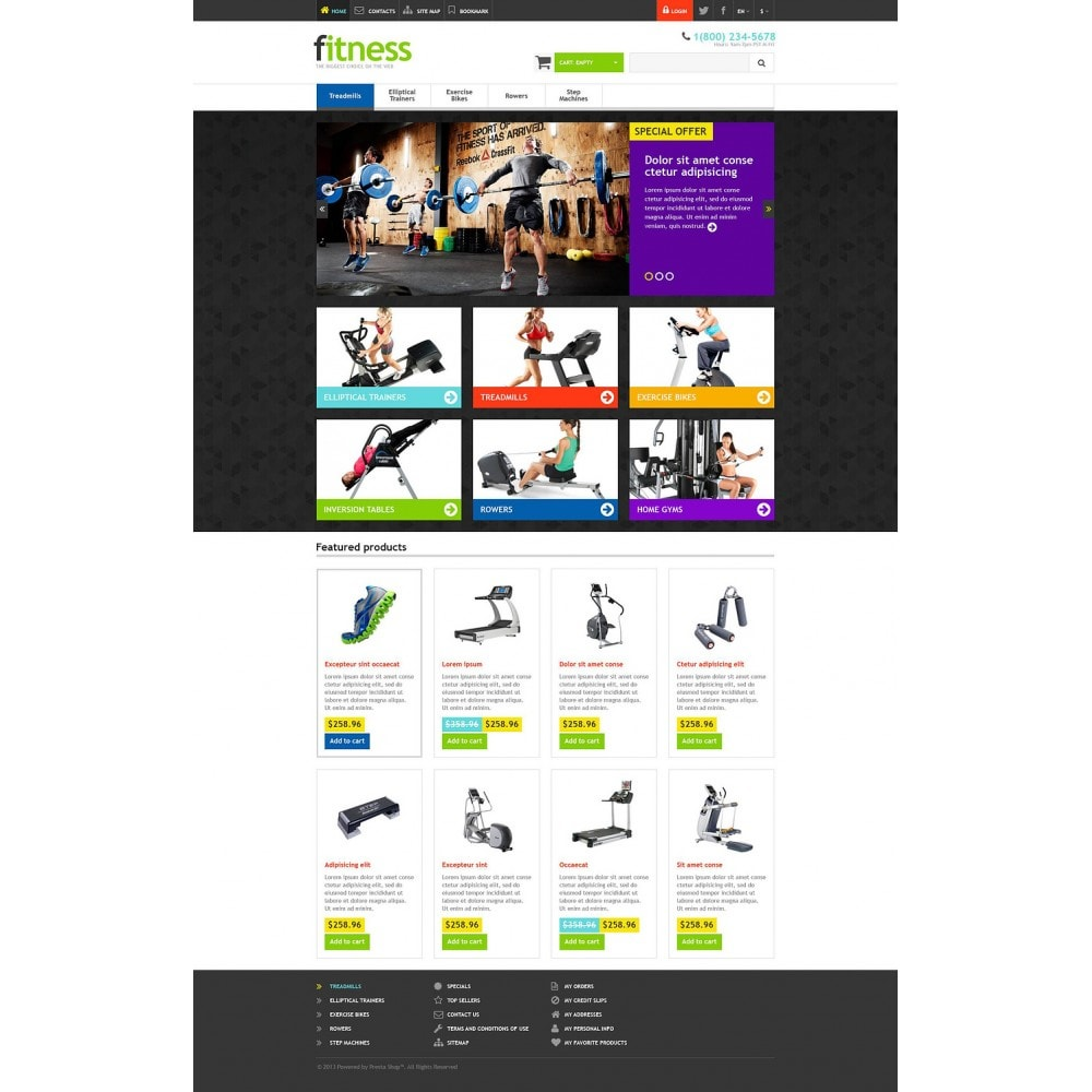 theme - Sport, Loisirs & Voyage - Responsive Fitness Store - 2