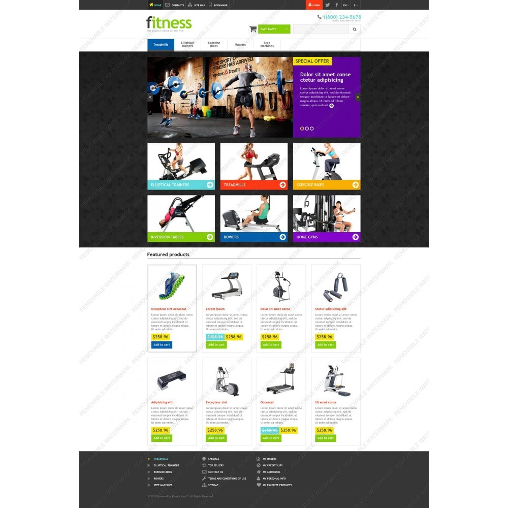 theme - Sport, Loisirs & Voyage - Responsive Fitness Store - 5