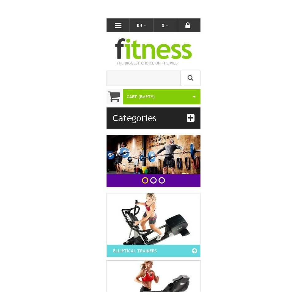theme - Deportes, Actividades y Viajes - Responsive Fitness Store - 9