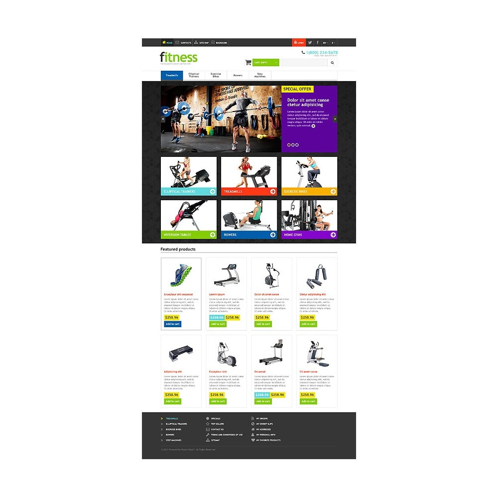 theme - Deportes, Actividades y Viajes - Responsive Fitness Store - 10