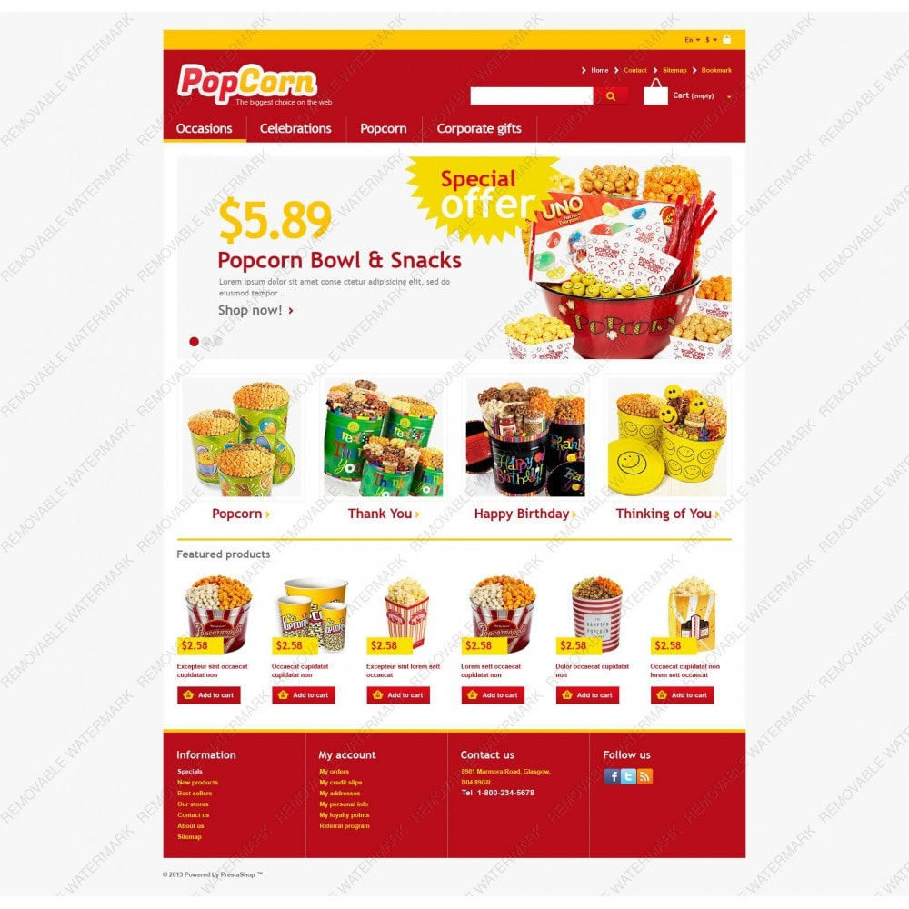 theme - Alimentation & Restauration - Responsive Pop Corn Store - 5