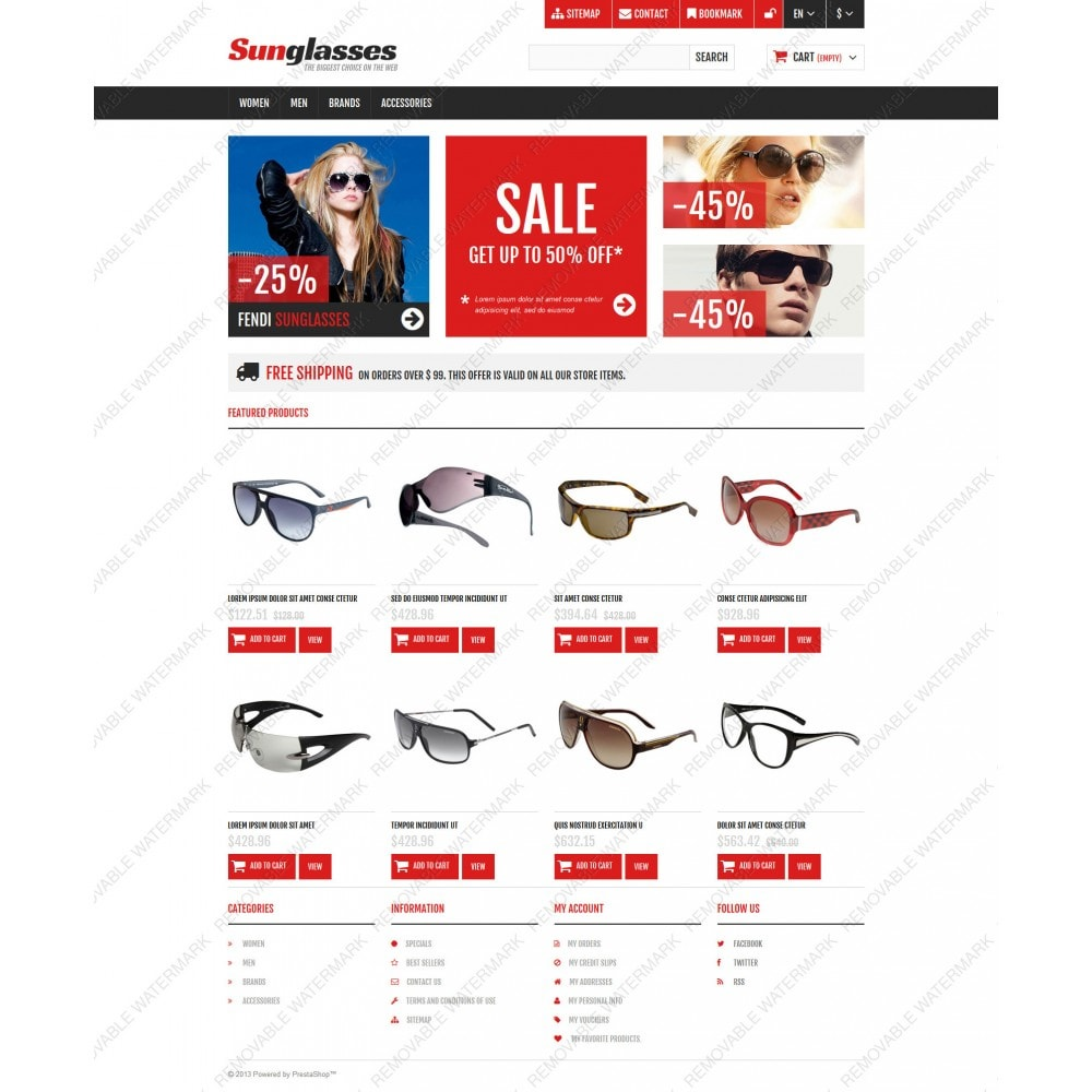 theme - Fashion & Shoes - Responsive Sunglasses Store - 3