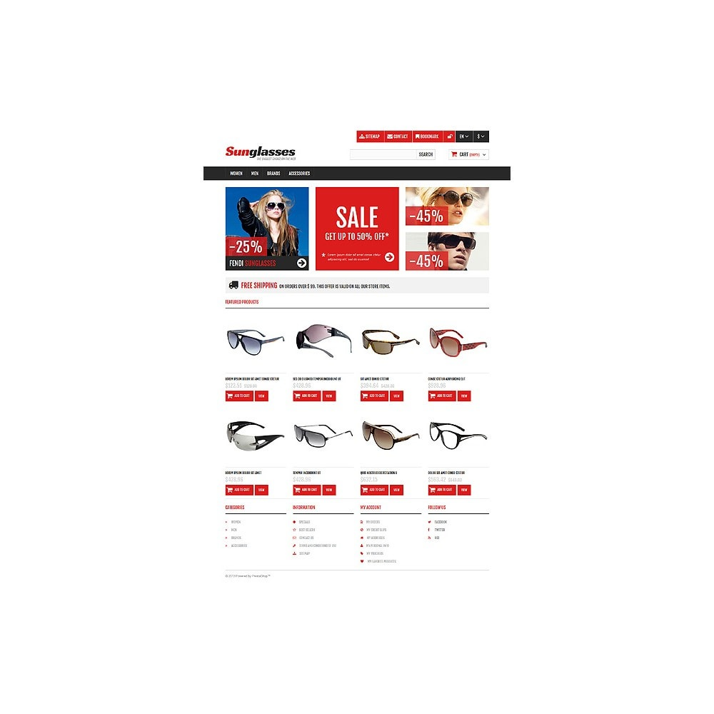 theme - Fashion & Shoes - Responsive Sunglasses Store - 10