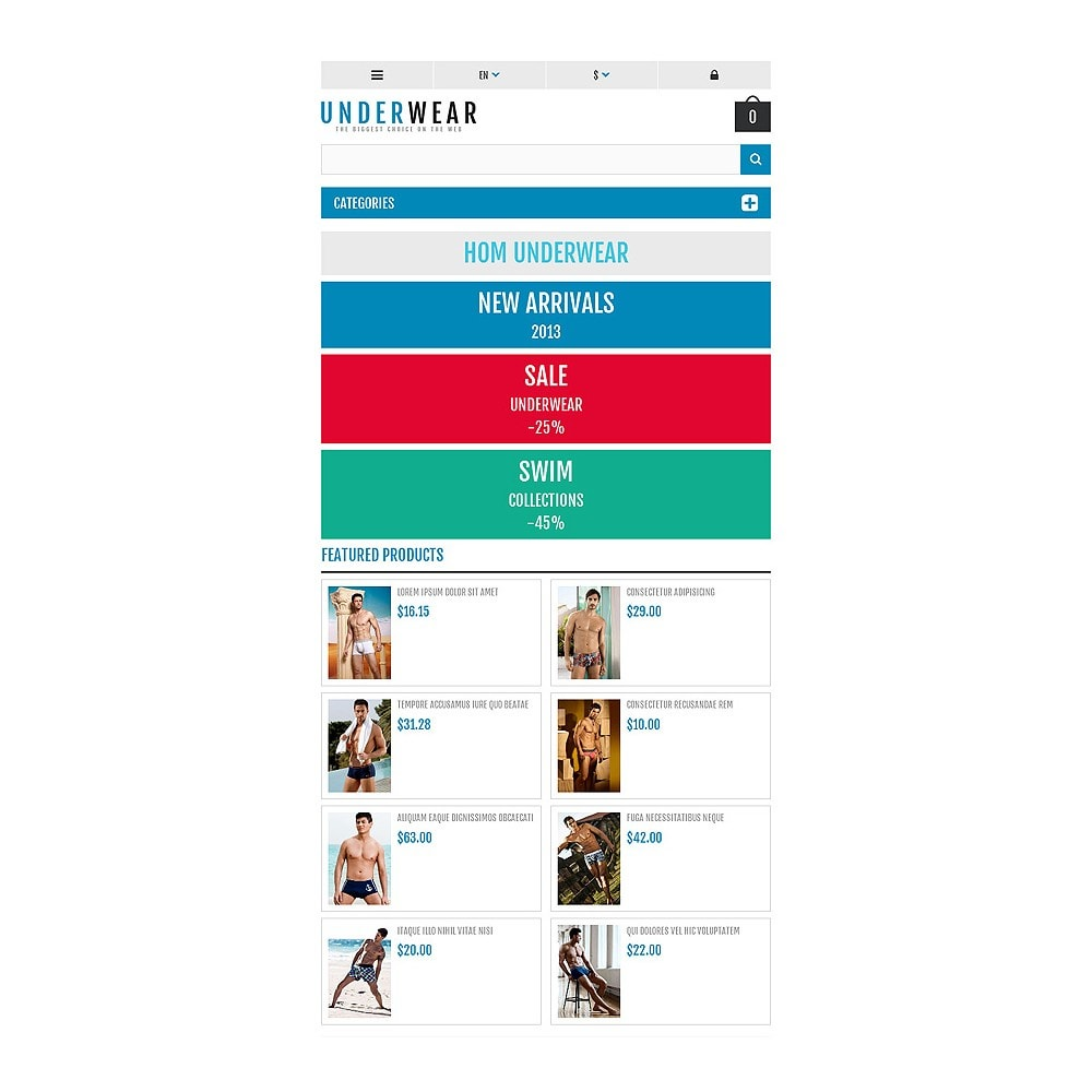theme - Fashion & Shoes - Responsive Underwear Store - 7