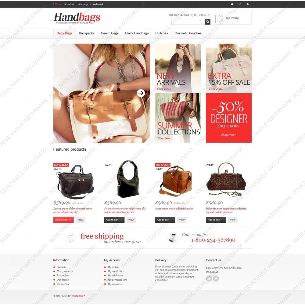 theme - Fashion & Shoes - Responsive Handbags Store - 3