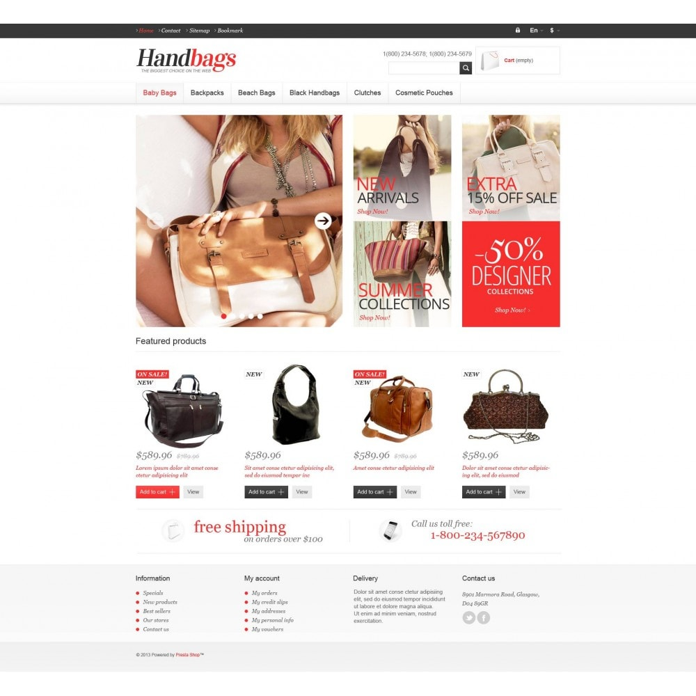 theme - Fashion & Shoes - Responsive Handbags Store - 4