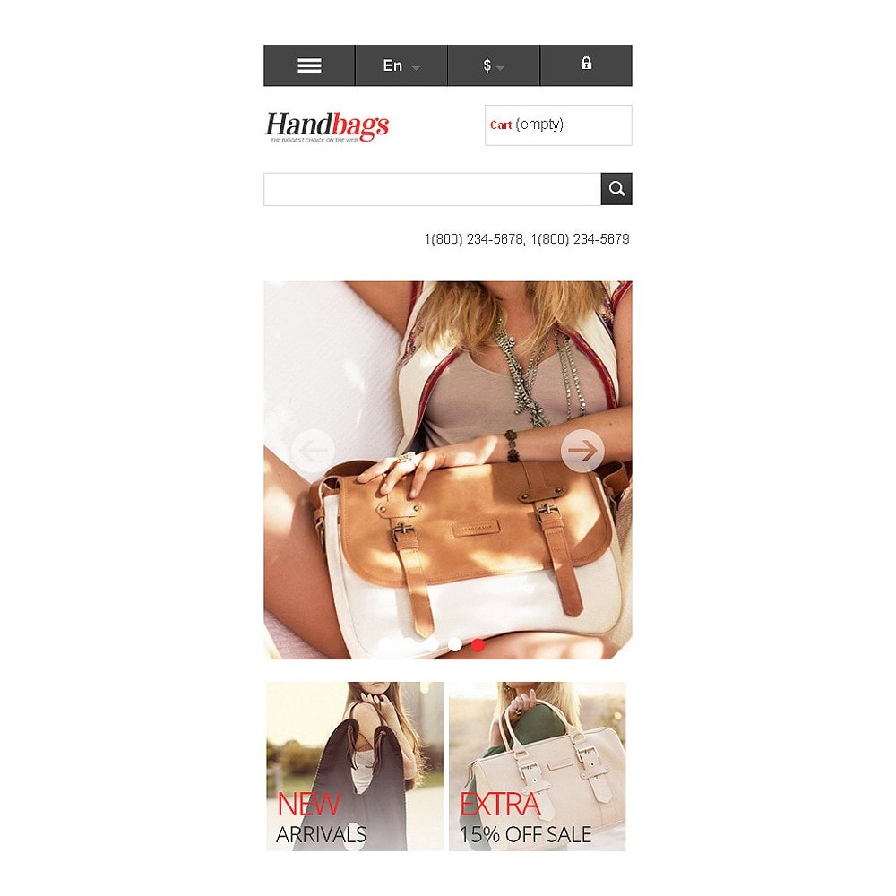 theme - Fashion & Shoes - Responsive Handbags Store - 9