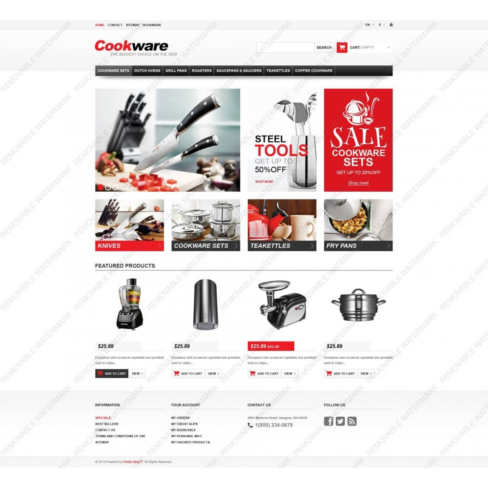theme - Art & Culture - Responsive Cookwear Store - 5