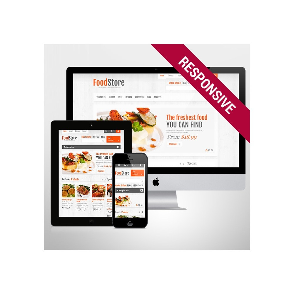 theme - Alimentation & Restauration - Responsive Food Store - 1