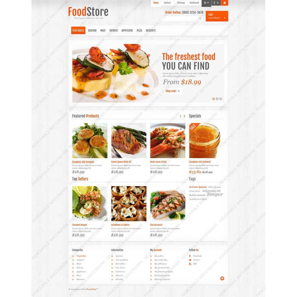 theme - Alimentation & Restauration - Responsive Food Store - 3
