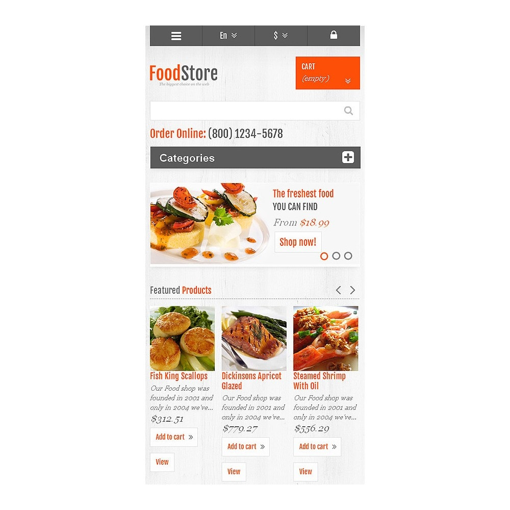 theme - Food & Restaurant - Responsive Food Store - 8
