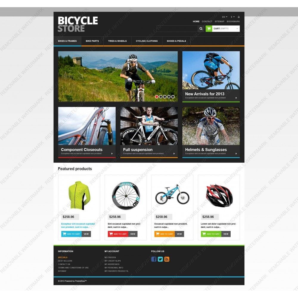 theme - Sports, Activities & Travel - Responsive Bicycle Store - 5