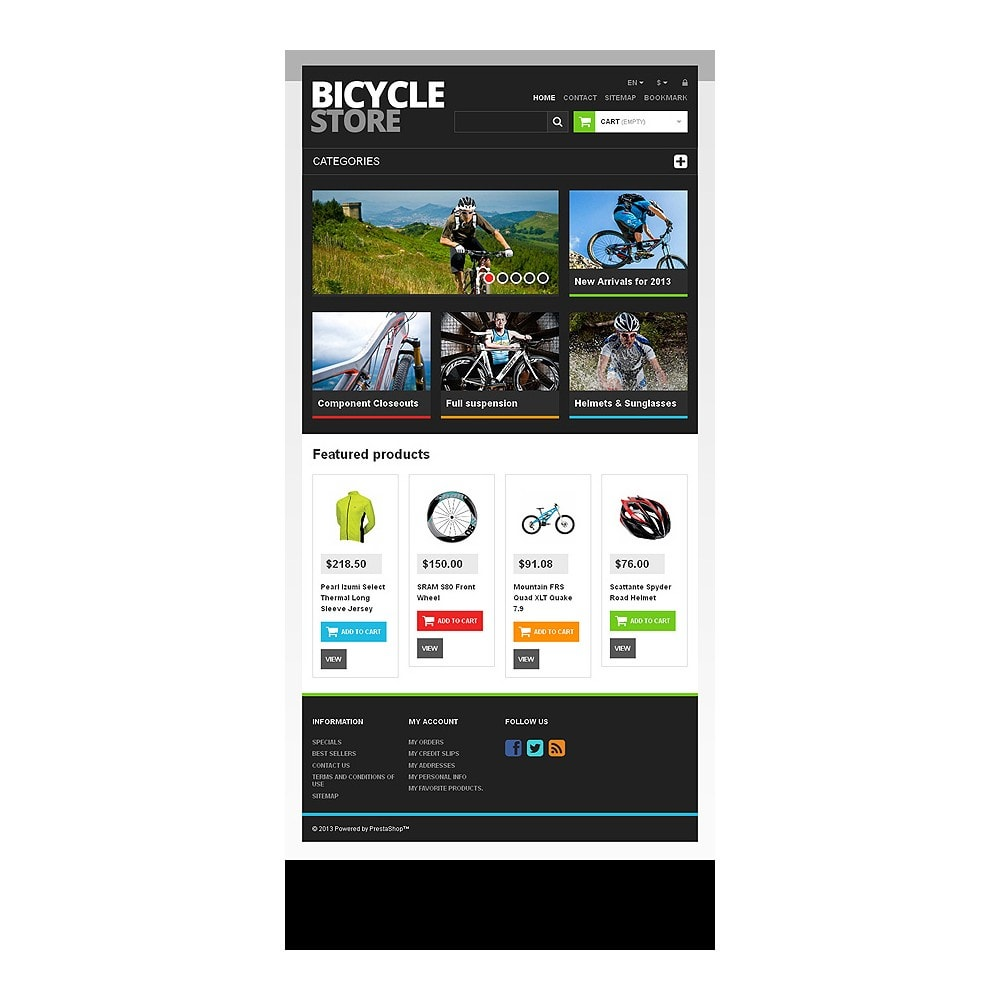 theme - Sports, Activities & Travel - Responsive Bicycle Store - 7
