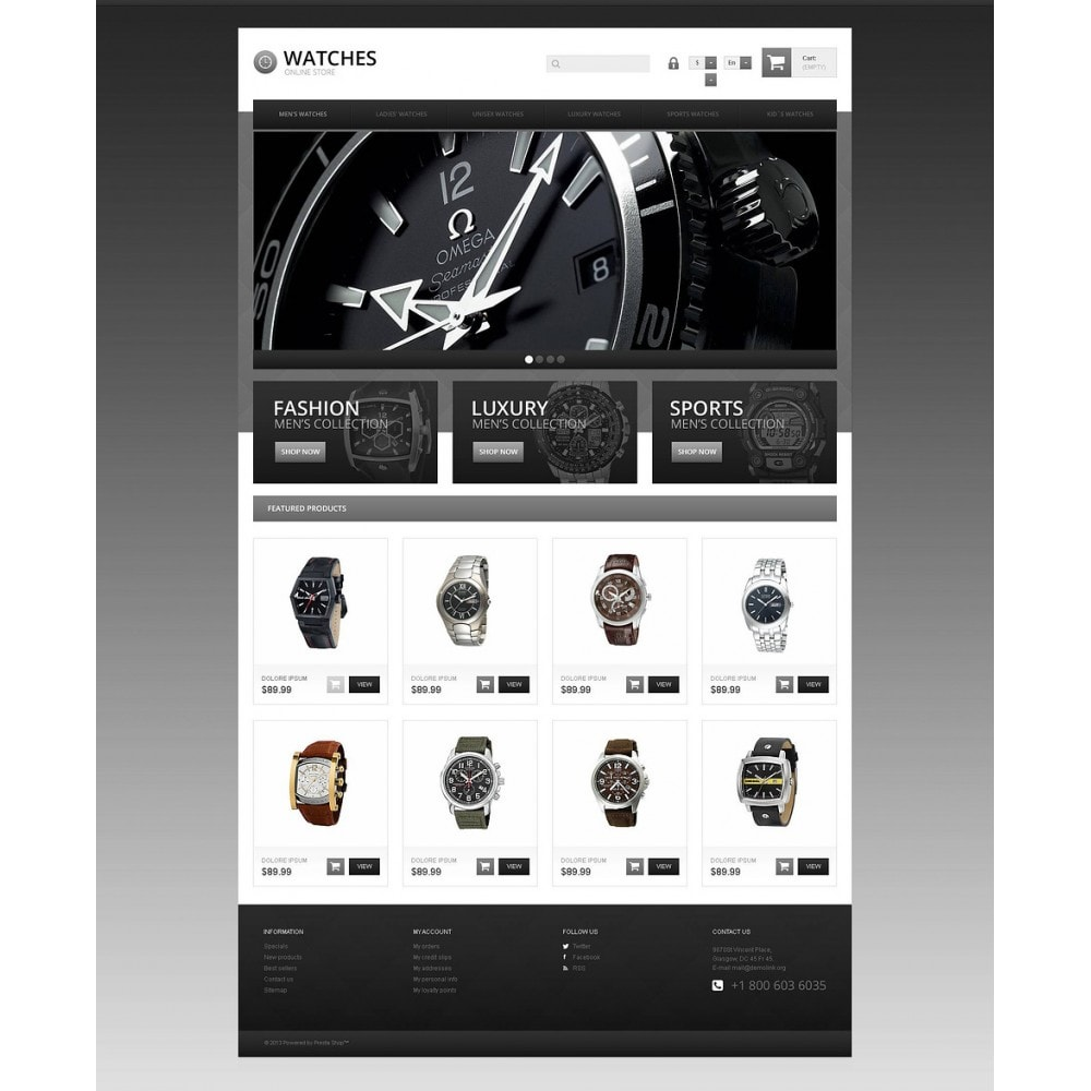 theme - Mode & Chaussures - Responsive Watch Store - 2