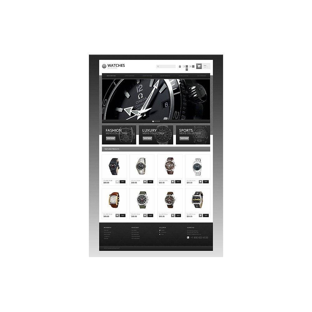 theme - Mode & Chaussures - Responsive Watch Store - 10
