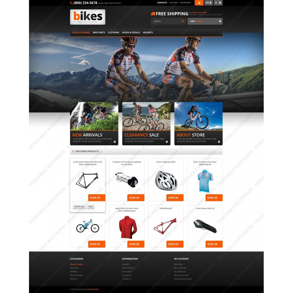 theme - Sport, Loisirs & Voyage - Responsive Bikes Store - 3