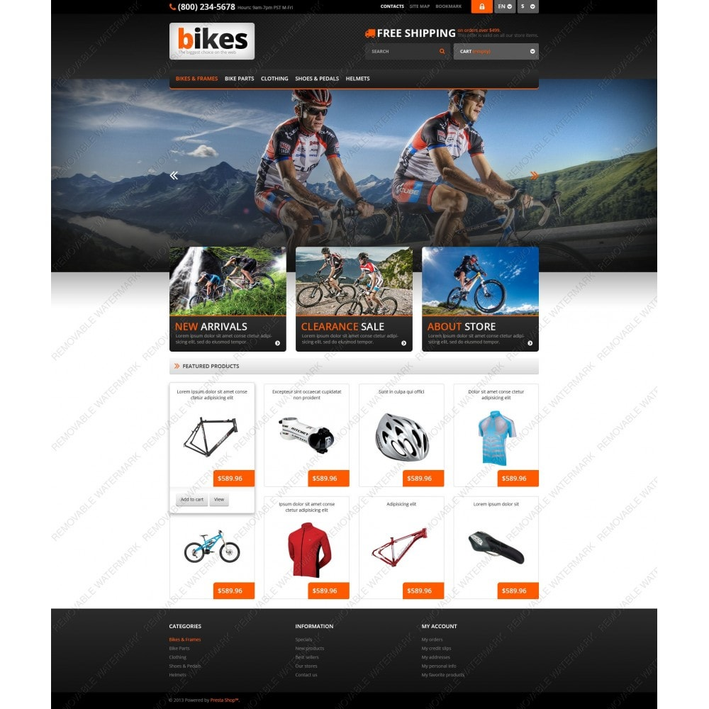 theme - Sport, Loisirs & Voyage - Responsive Bikes Store - 5