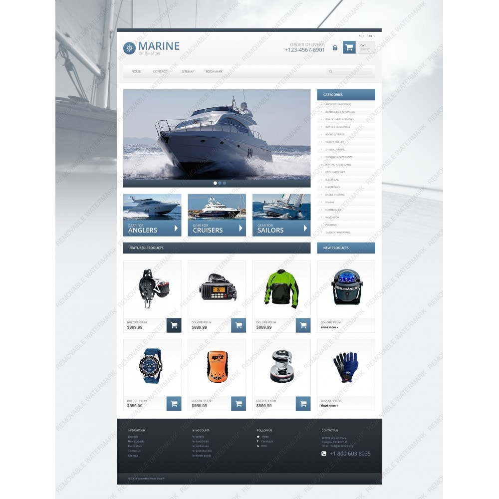theme - Sports, Activities & Travel - Responsive Marine Store - 3
