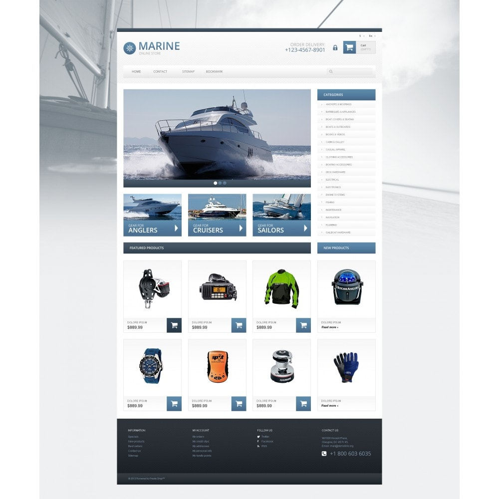 theme - Sports, Activities & Travel - Responsive Marine Store - 4