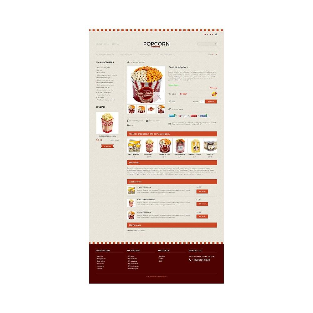 theme - Продовольствие и рестораны - Responsive Popcorn Store - 6