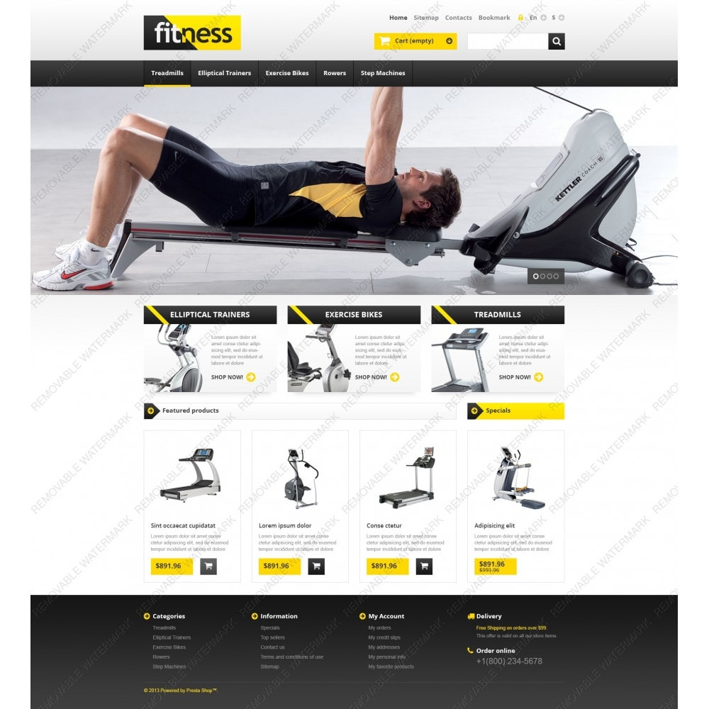 theme - Deportes, Actividades y Viajes - Responsive Fitness Store - 3