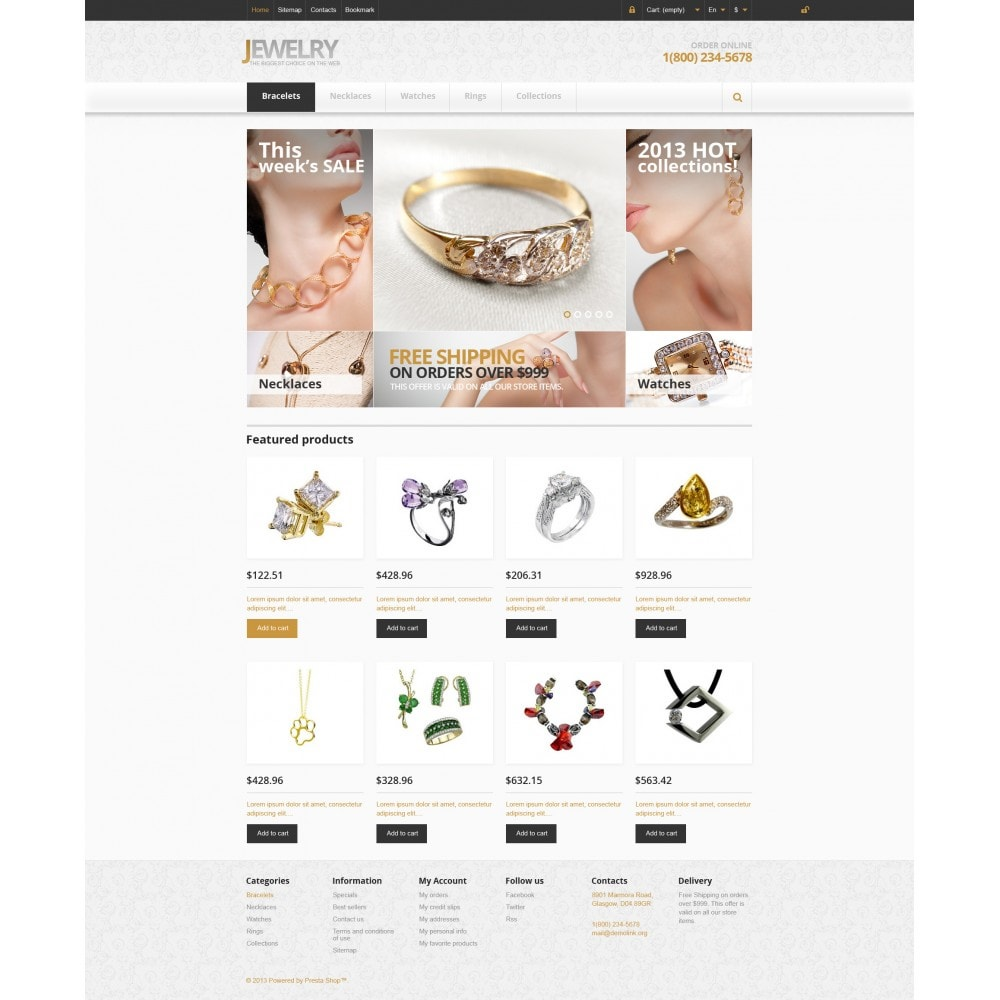 theme - Fashion & Shoes - Responsive Jewelry Store - 5
