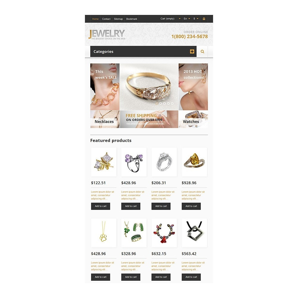 theme - Fashion & Shoes - Responsive Jewelry Store - 8