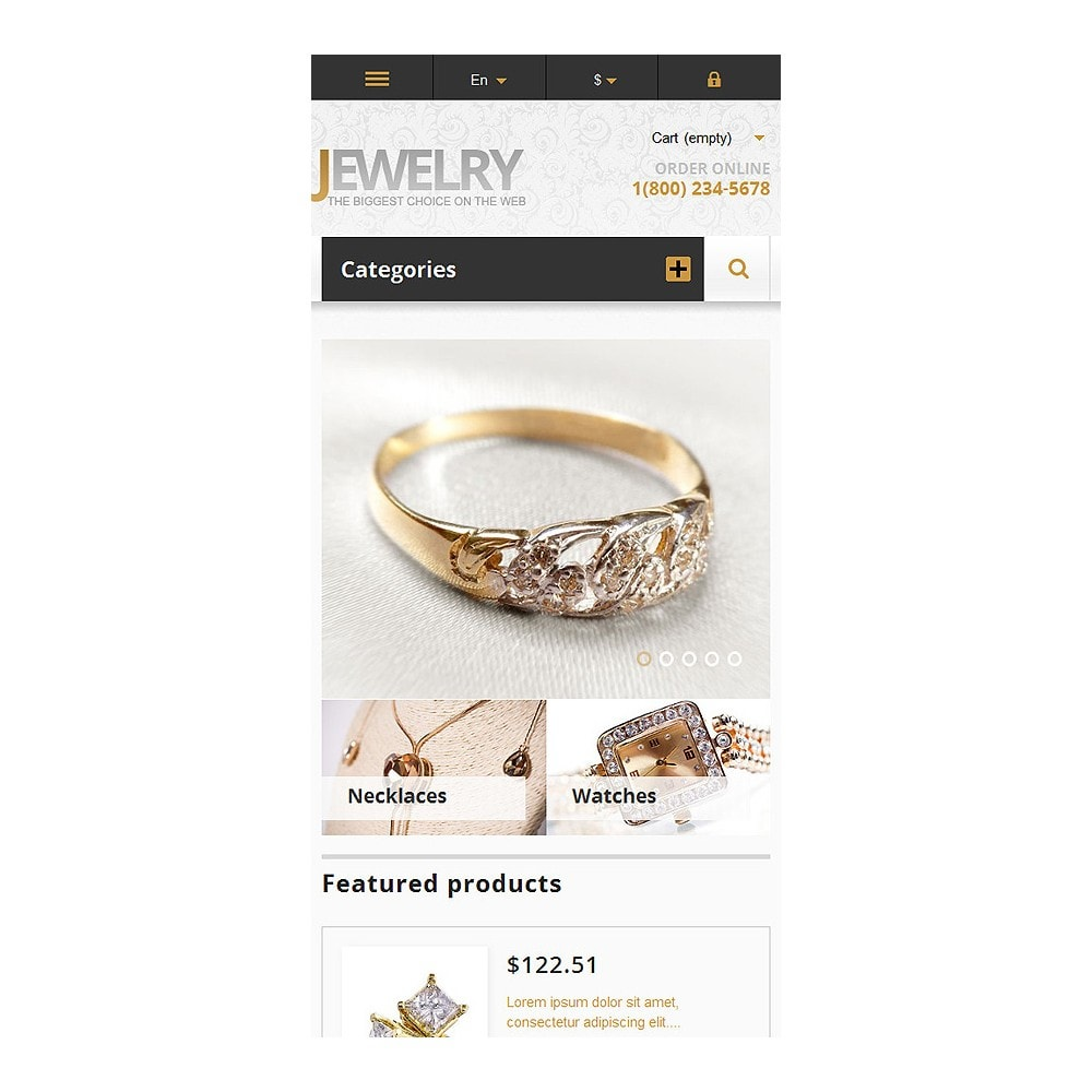 theme - Fashion & Shoes - Responsive Jewelry Store - 9
