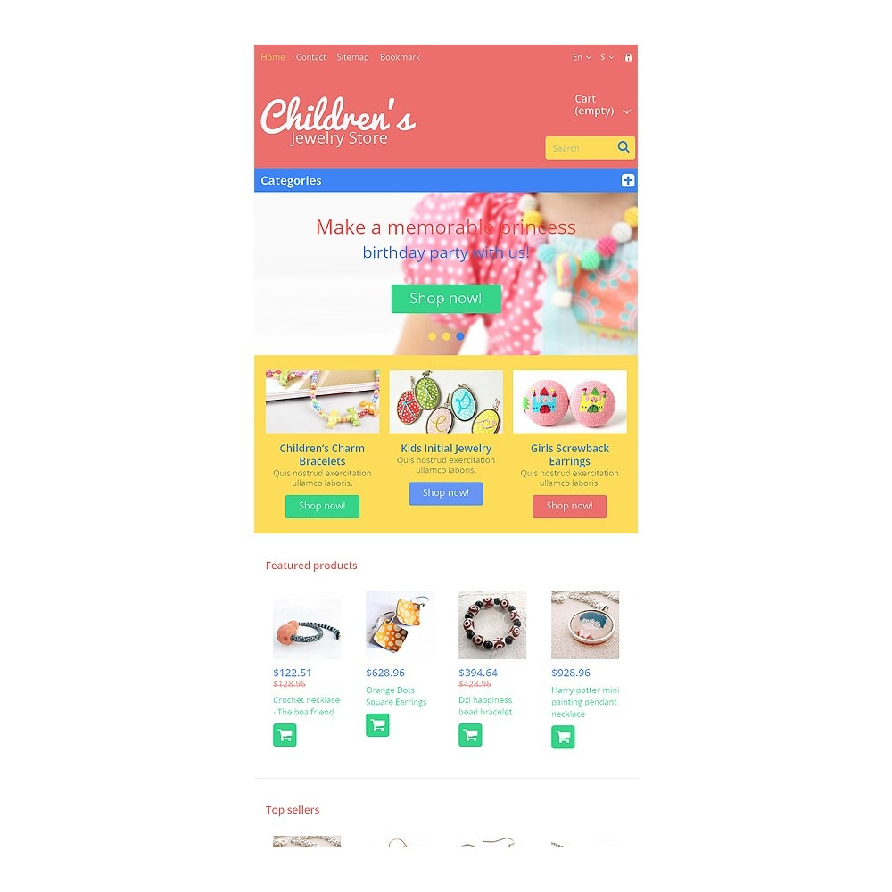 theme - Мода и обувь - Children's Jewelry Store - 7