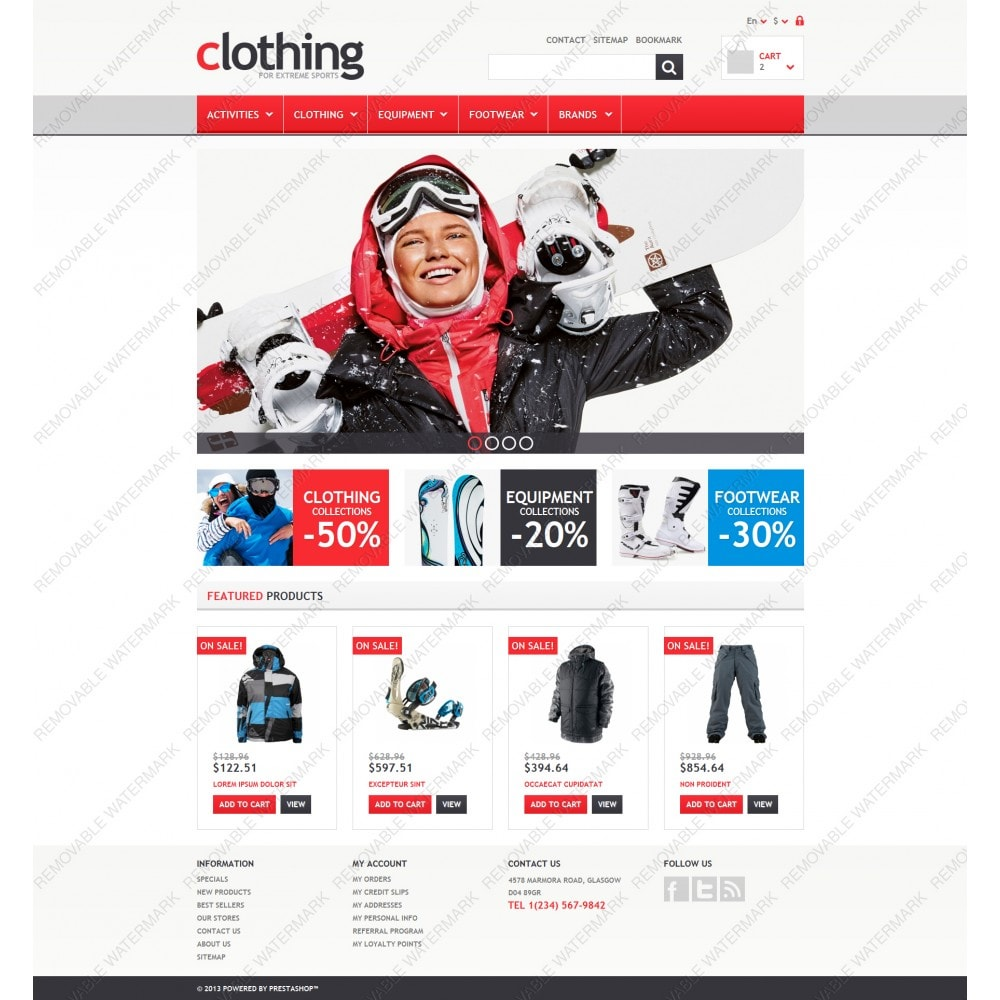 theme - Sports, Activities & Travel - Responsive Clothing Store - 3