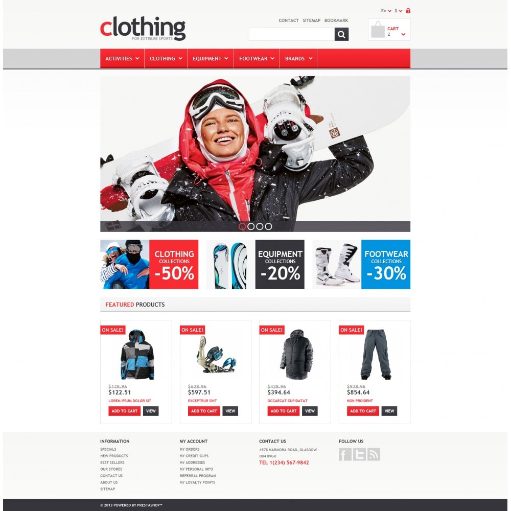 theme - Sports, Activities & Travel - Responsive Clothing Store - 4
