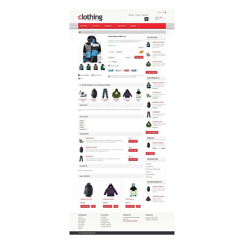 theme - Спорт и Путешествия - Responsive Clothing Store - 6