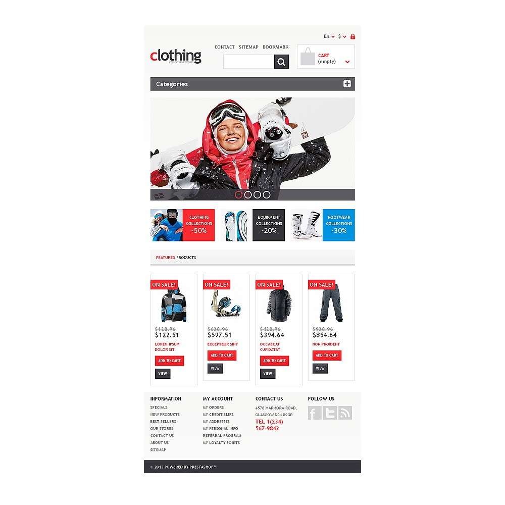 theme - Sports, Activities & Travel - Responsive Clothing Store - 7