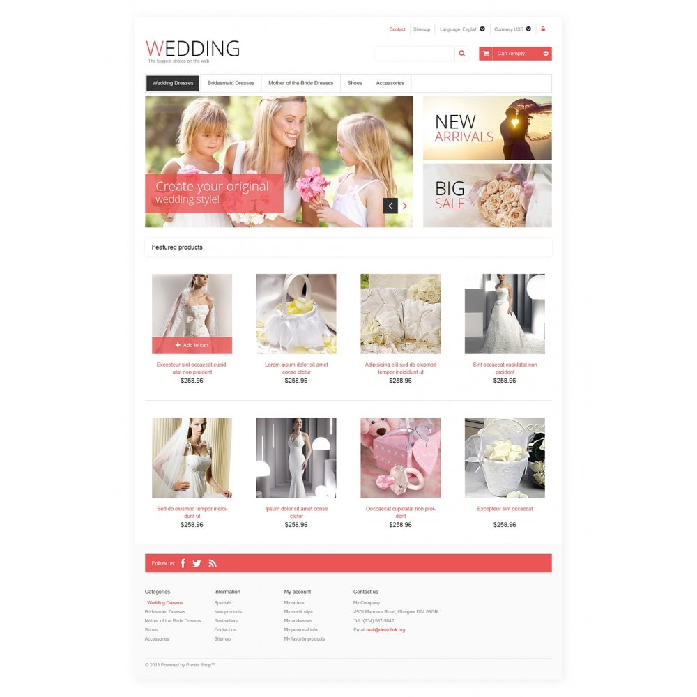 theme - Mode & Schuhe - Responsive Wedding Store - 2