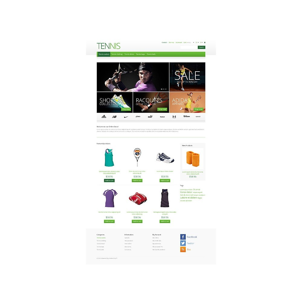 theme - Desporto, Actividades & Viagens - Responsive Tennis Store - 10