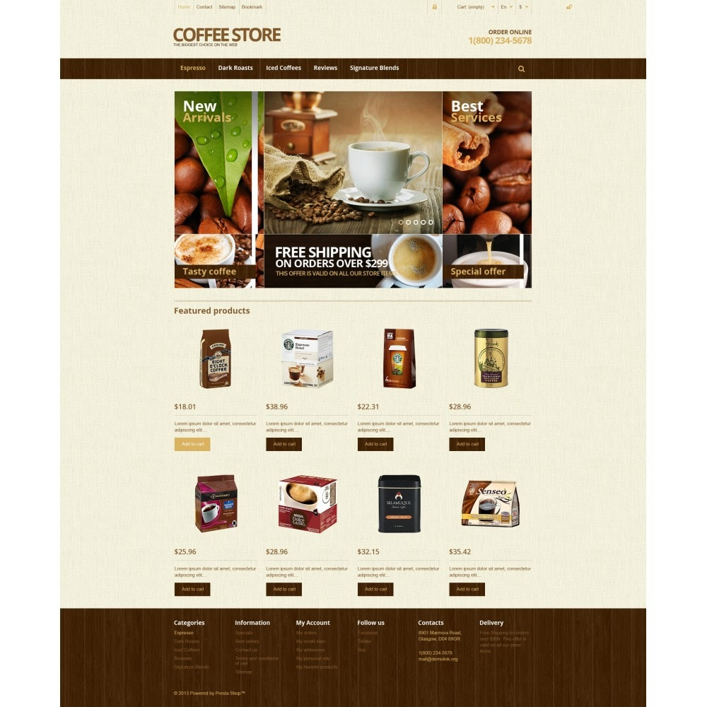 theme - Продовольствие и рестораны - Responsive Coffee Store - 4