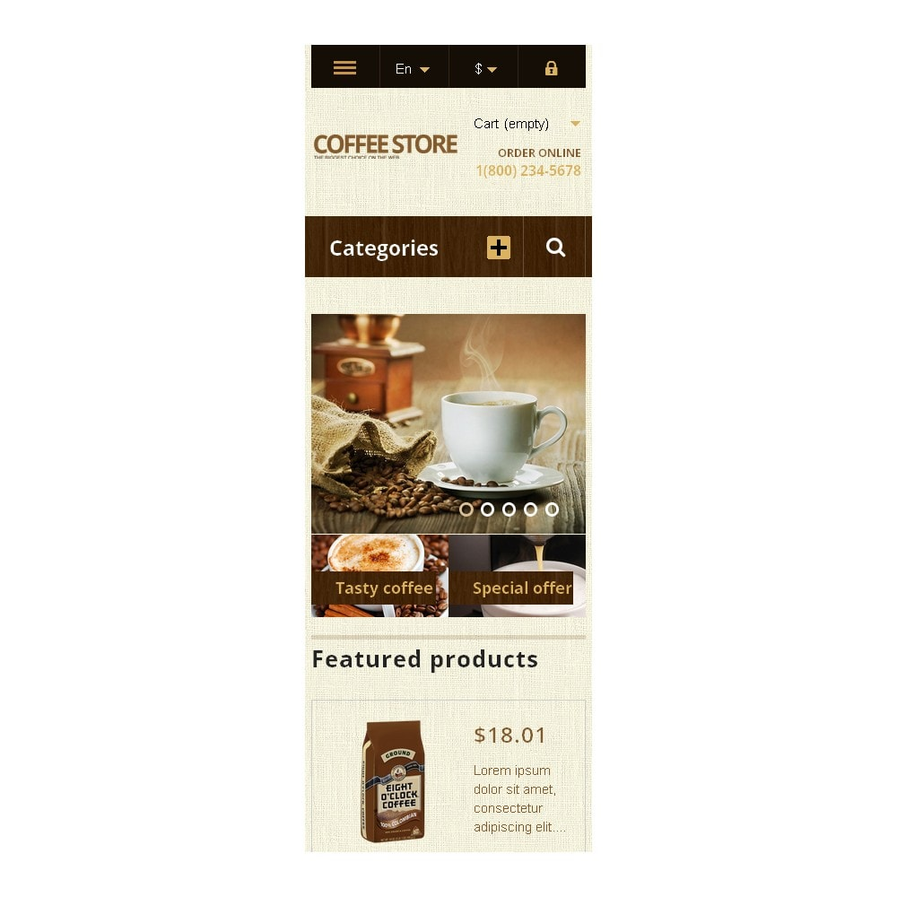 theme - Lebensmittel & Restaurants - Responsive Coffee Store - 9