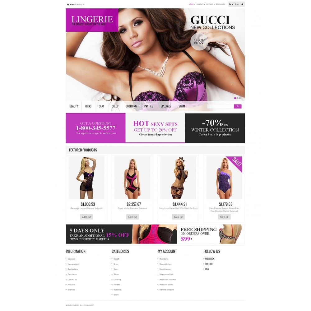 theme - Moda & Obuwie - Responsive Lingerie store - 2