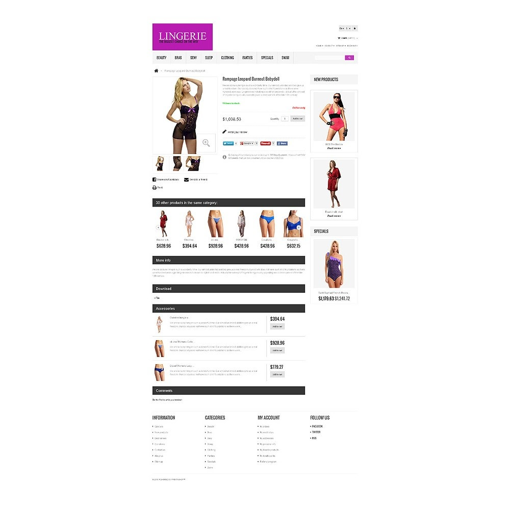 theme - Moda & Obuwie - Responsive Lingerie store - 6