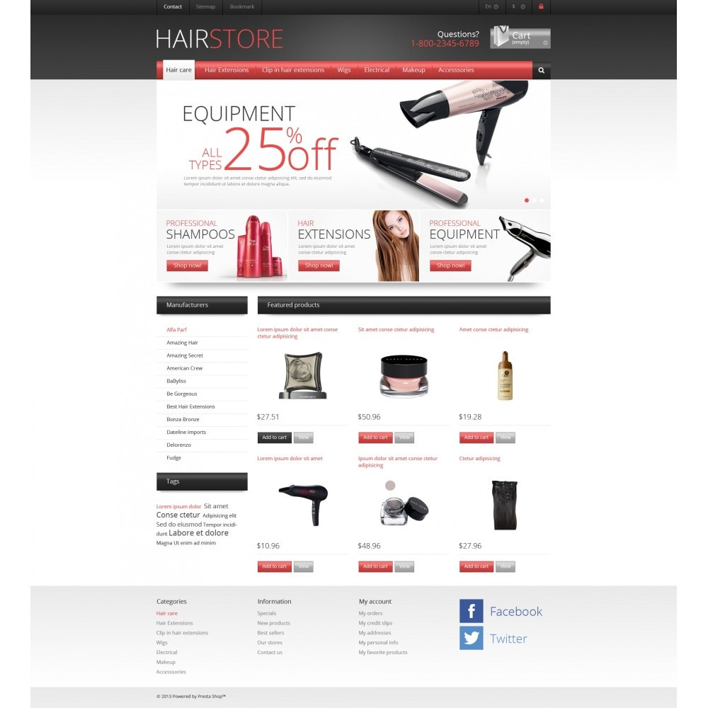 theme - Mode & Chaussures - Responsive Hair Store - 4