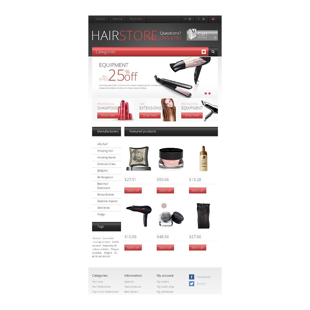 theme - Mode & Schoenen - Responsive Hair Store - 7
