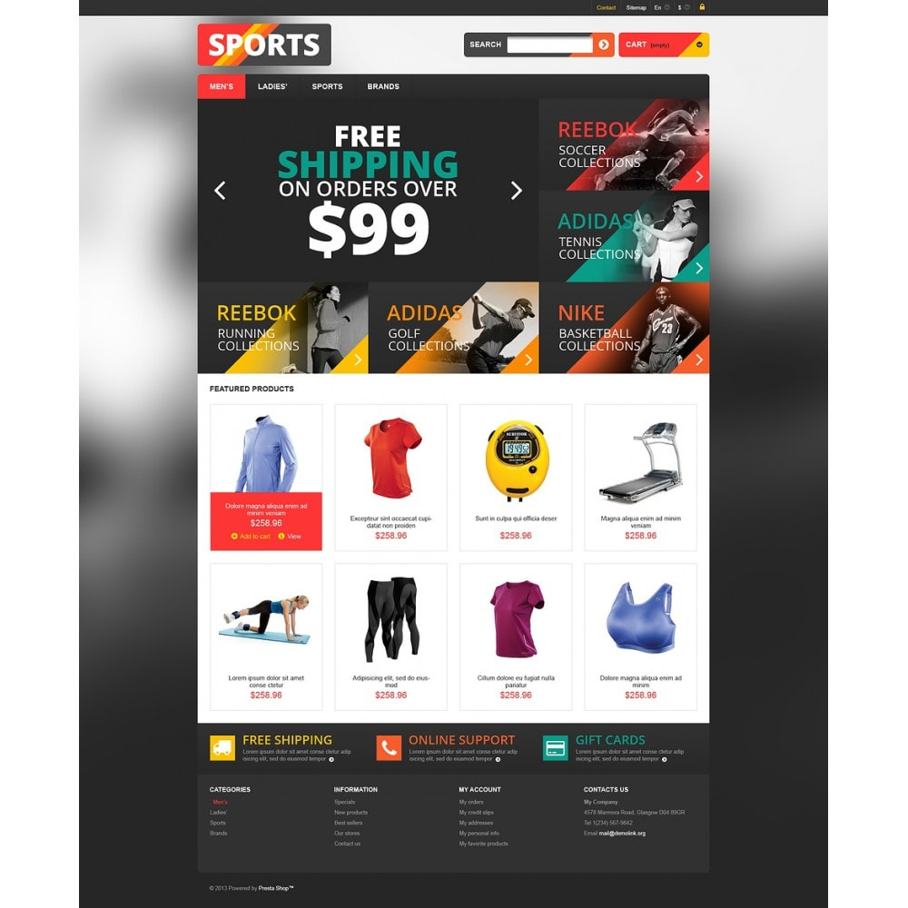 theme - Sport, Loisirs & Voyage - Responsive Sports Store - 2
