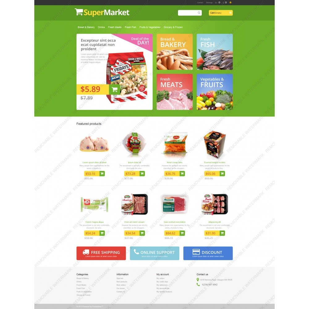 theme - Eten & Restaurant - Responsive Supermarket - 3